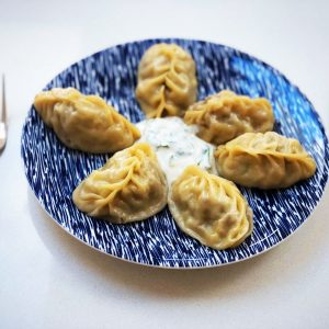 Manty (Uzbek dumplings) filled with pumpkin & lamb (1 kg)