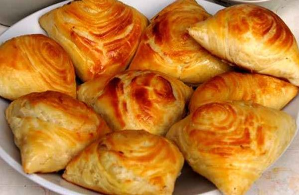 Samsa- handmade layered pastry. Choose the filling from: