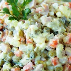 Russian Olivier salad (1kg). Choose from: