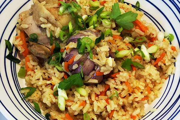 Uzbek Plov (Rice Pilaf) with chicken or lamb