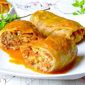 Golubtsy – stuffed cabbage rolls (20 pieces) Choose the filling below:
