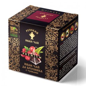 Russian Ivan-tea Premium with lingonberry, with herbs, 24g, 12 PCs.