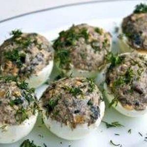 Wild Mushroom Deviled Eggs (10 pieces)