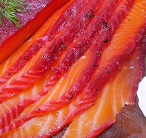Beetroot cured salmon (400g)