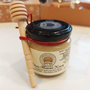 Prunotto Orange blossom honey 100g (Italy) and honey dipper